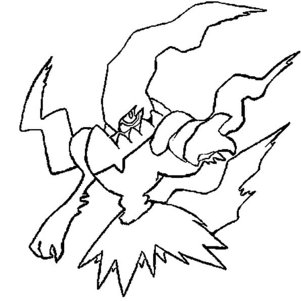 Dessin Pokémon darkrai a colorier