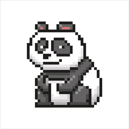 Pixel Art Facile Kawaii Panda