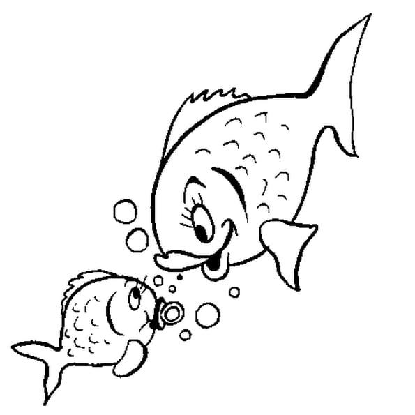 Coloriage de poisson en ligne gratuit imprimer - Poisson rouge gratuit ...
