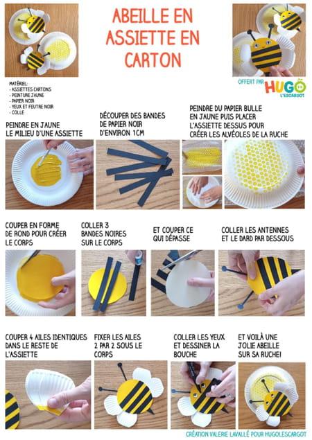 fabriquer-une-abeille-avec-une-assiette-en-carton