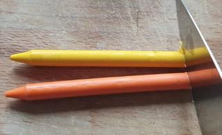 Étape 2: Découpez les crayons de cire