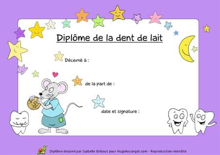 Diplome De La Dent De Lait
