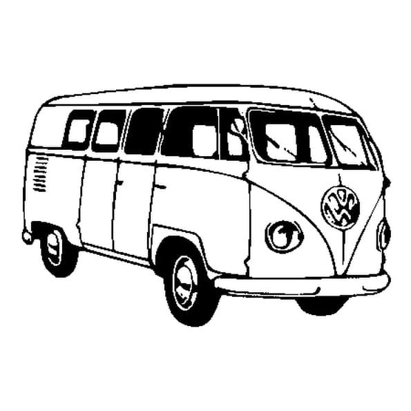 Dessin Combi VW a colorier