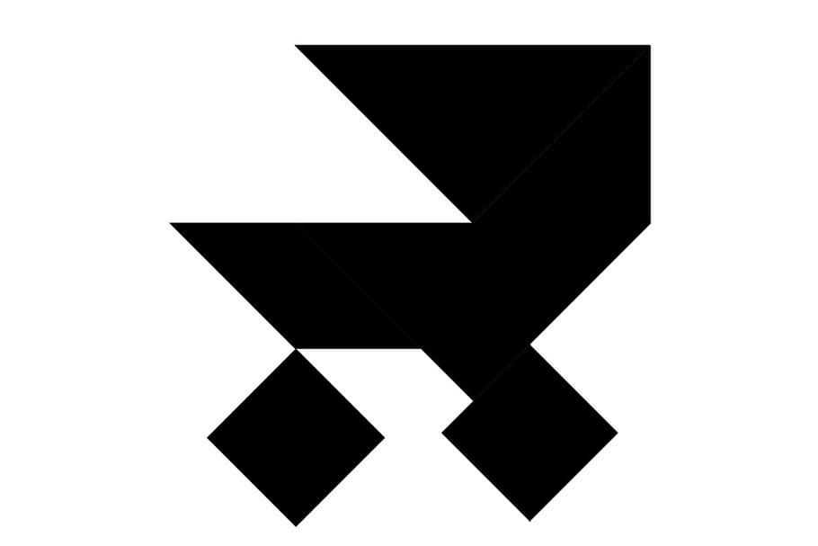 Le tangram niveau difficile, une poussette