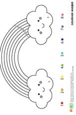 Coloriage magique CP: un arc-en-ciel