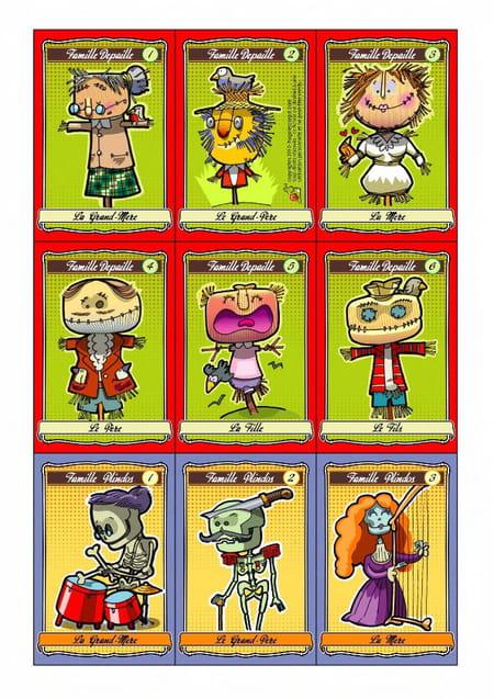 Exceptionnel Le jeu des 7 familles d'Halloween DV58