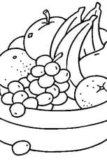 Coloriage Coupe de Fruits