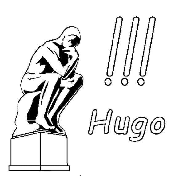 Dessin Hugo a colorier