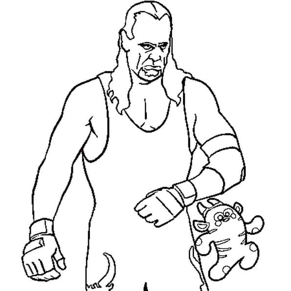 Coloriage Catcheur Undertaker en Ligne Gratuit à imprimer