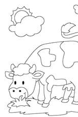Coloriage De vache en Ligne Gratuit à imprimer