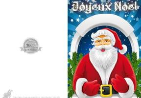 Carte de vœux Père Noël