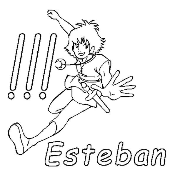 Dessin Esteban a colorier
