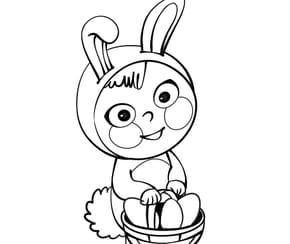 Costume lapin de Pâques