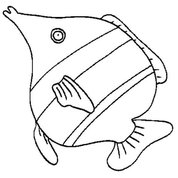 Coloriage le poisson avril en Ligne Gratuit à imprimer