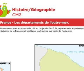 La France, les départements de l'outre-mer