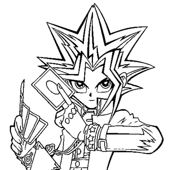 Dessin yu gi oh a colorier