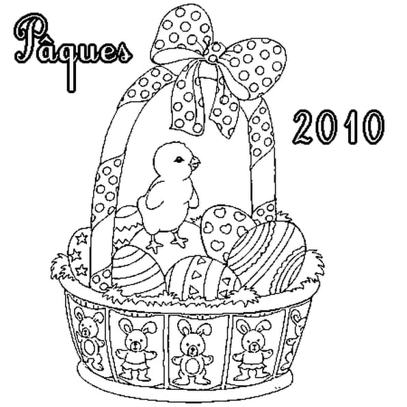 Coloriage p ques 2010 en ligne gratuit imprimer - Coloriage paques en ligne ...
