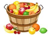 Comptine Pomme, pêche, poire, abricot