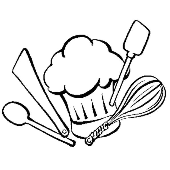 dessin a imprimer ustensile de cuisine