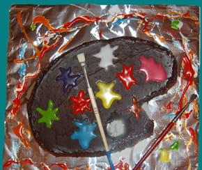 Gâteau d'anniversaire Palette de Peinture