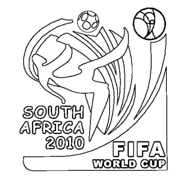 Dessin Coupe du Monde 2010 a colorier