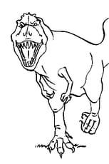 Coloriage Tyrannosaure rugissant