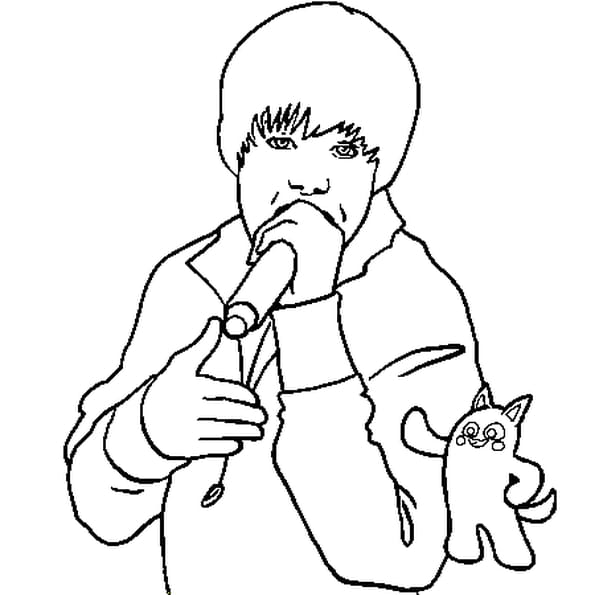 Dessin Justin Bieber 3 a colorier
