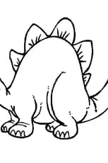 Coloriage Dinosaure enfant