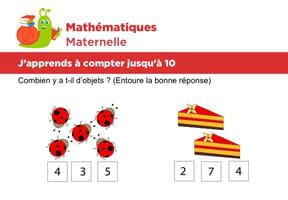 Mathématiques fiche 1, j'apprends à compter jusqu'à 10