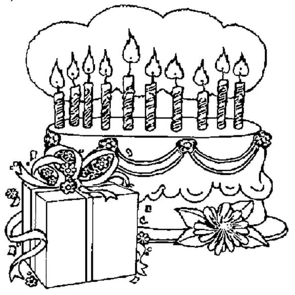 10 ans coloriage 10 ans en ligne gratuit a imprimer sur - Dessin gateau anniversaire 50 ans ...
