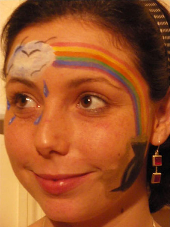 Maquillage arc-en-ciel