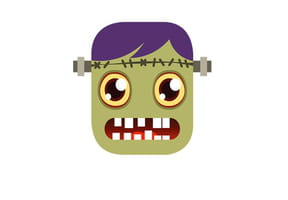 Masque de madame Frankenstein pour Halloween