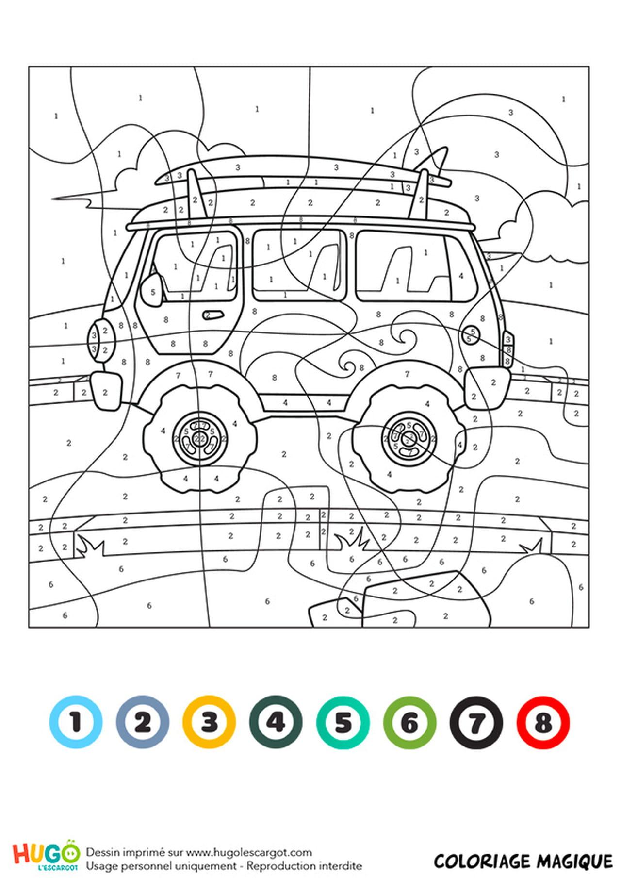 Beau Dessin A Colorier Camping Car