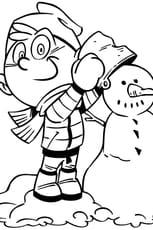 Coloriage Petit bonhomme de neige