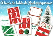 Décoration de table festive de Noël à imprimer