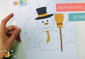 Découpage Bonhomme de neige à habiller