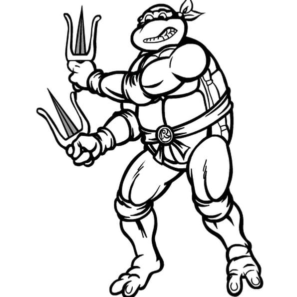 Coloriage tortue ninja en Ligne Gratuit à imprimer