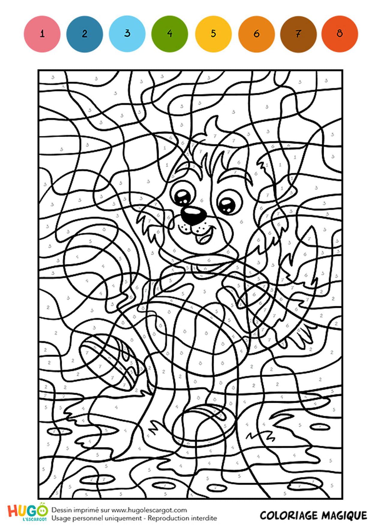 Coloriage Magique De Chat A Imprimer