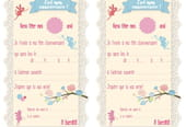 Carte d'invitation d'anniversaire thème des fées des fleurs