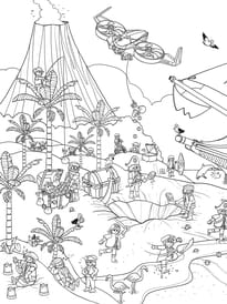 Coloriage Cache-Cache Playmobil pirates