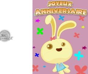 Carte joyeux anniversaire petit lapin