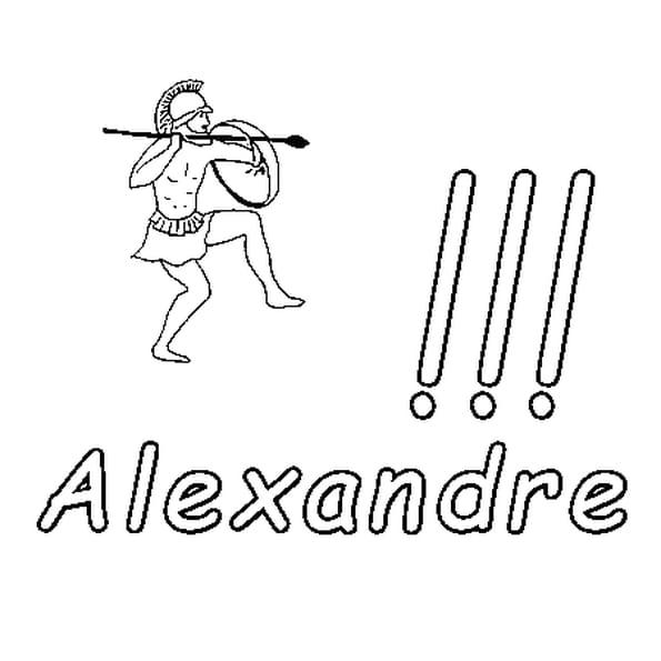 Dessin Alexandre a colorier