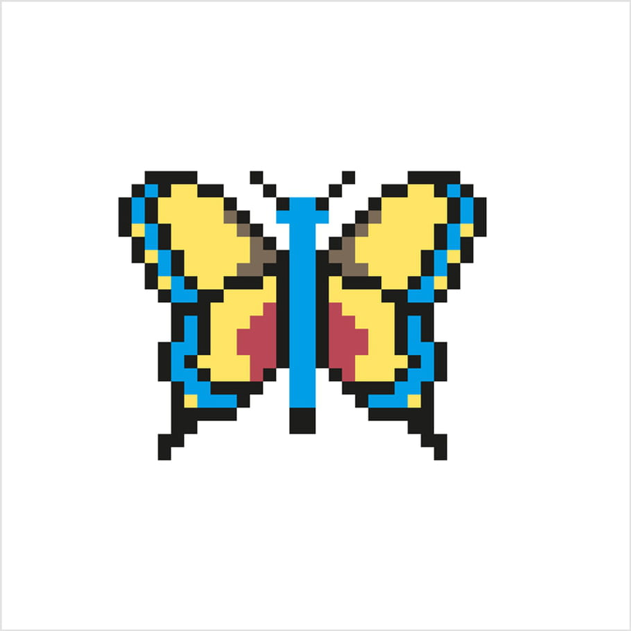 Papillon Facile En Pixel Art