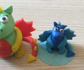 Dragon en pâte à modeler