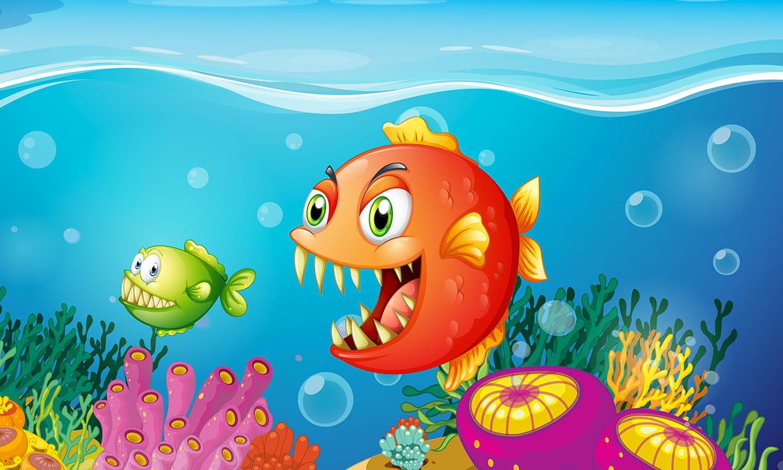 Coloriage piranhas sur - Hugo l escargot com ...
