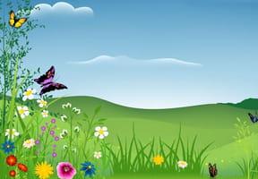 Coloriage printemps