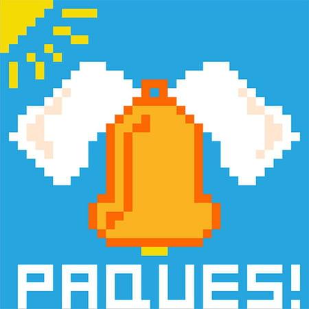 Cloche De Pâques En Pixel Art