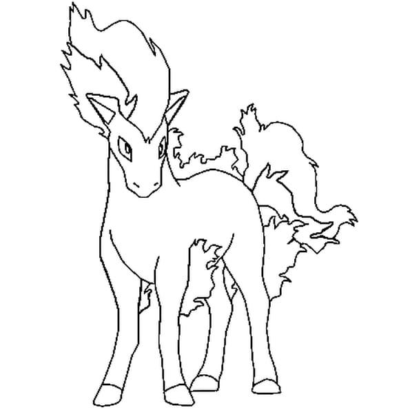 Coloriage pok mon ponyta en ligne gratuit imprimer - Dessin de pokemon facile ...