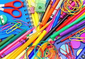 Coloriage fournitures scolaires