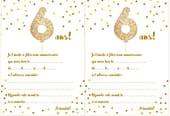 Carte d'invitation d'anniversaire 6ans
